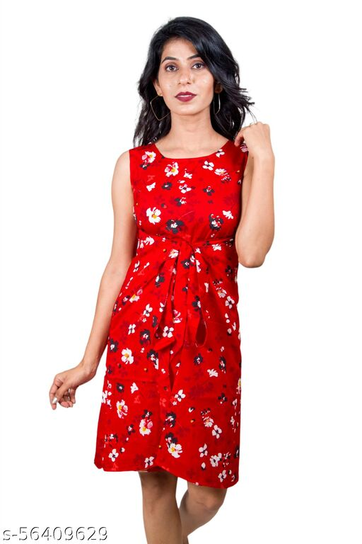 Designer cutsleeves adjustable warp dress