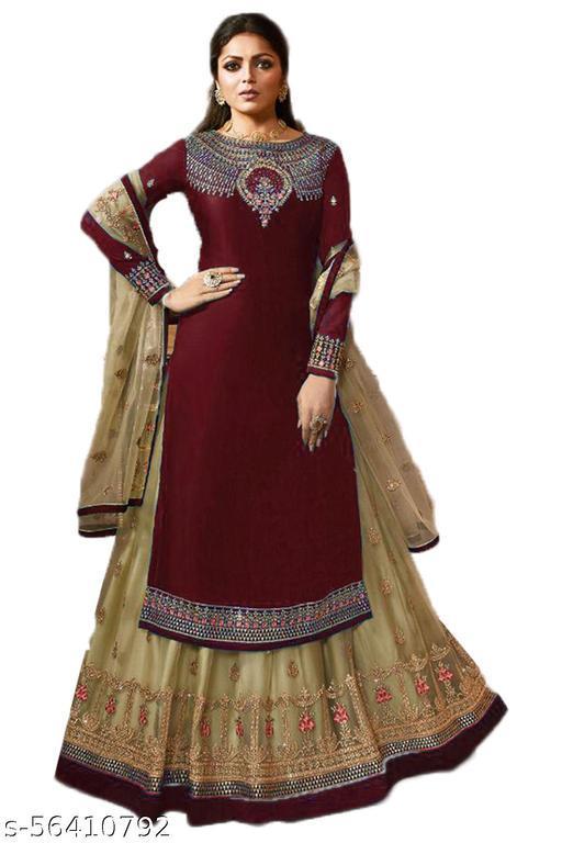 Fashobazzar Women's Faux Georgette Salwar Suit (  Free Size )