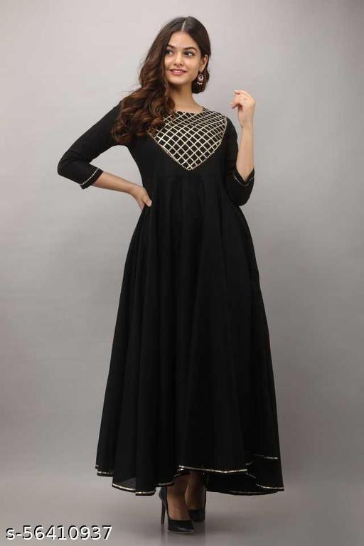 black gown neck_less set #22