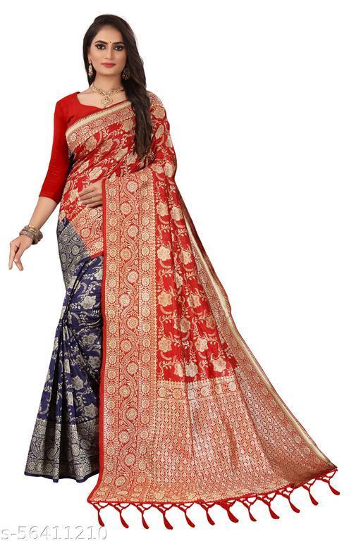 Soft Lichi Silk Half & Half Saree