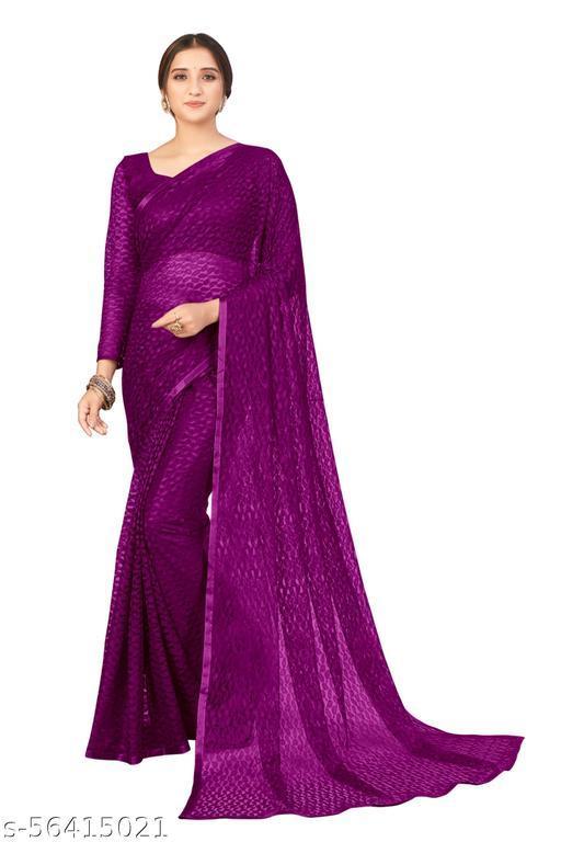Fancy Net Self Design Bollywood Saree