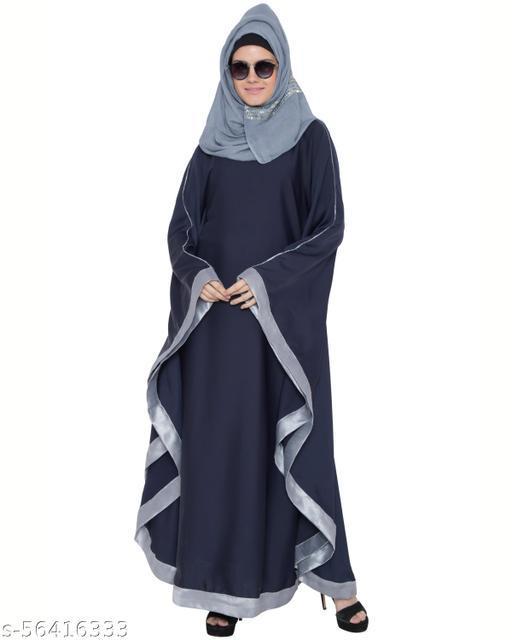 DESIGNER FARASHA KAFTAN ABAYA -BLUE-GREY