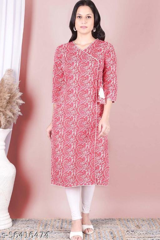 Vilma Trendy Pink Cotton Kurta