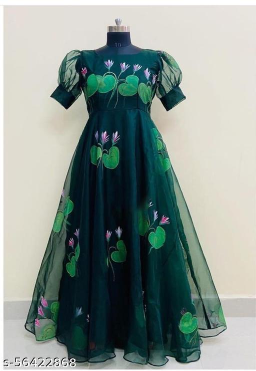 Gree Digital  PrintedGeorgette Gown