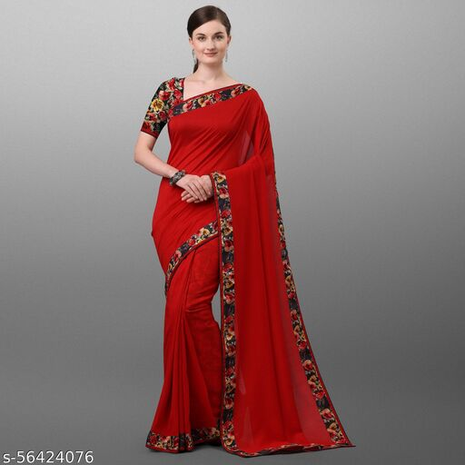 Latest Design POLY SILK saree with blouse