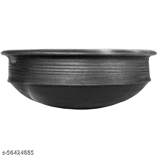 ECOCRAFT Black Clay Pot 3 L For Cooking