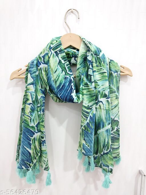 Cotton Printed Scarf, Scarves Face Mask Dupatta For Girls & Women || 100% Cotton