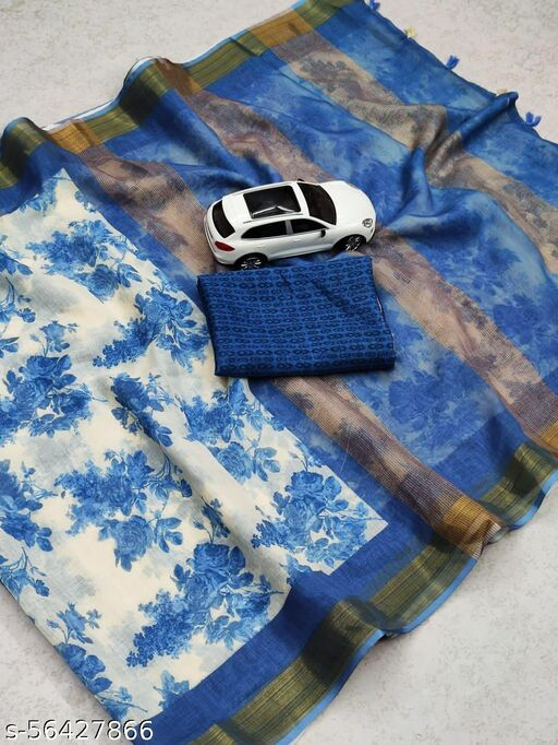 Clasik Multi color premium saree with unstitched blouse