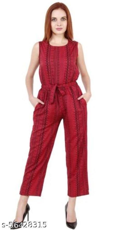Trendy American Crepe women Jumpsuit