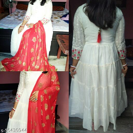 Off white Anarkali Gown