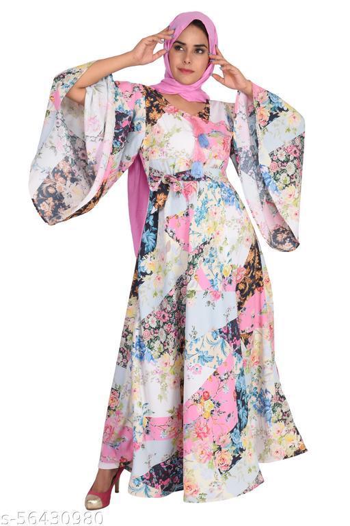 Multi Colour Circular Gown/Maxi Dress