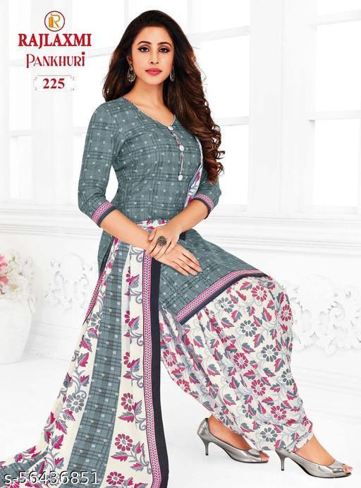 Shree Shan Pure Cotton Un-Stitched Suit (Grey)