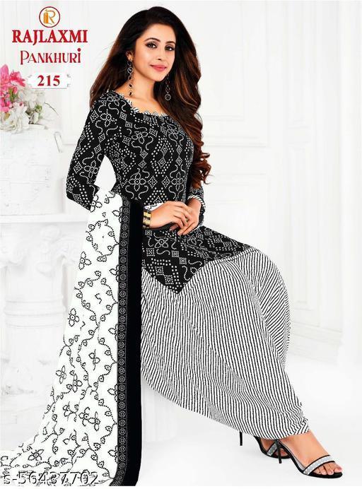 Shree Shan Pure Cotton Un-Stitched Suit (Black)