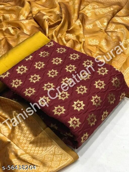 STAY | MAROON | UNSTICHED SUIT | TANISHQ CREATION SURAT