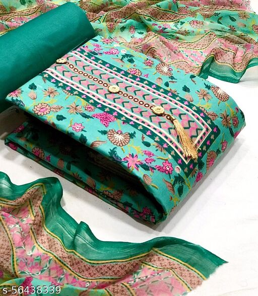 HEAVY COTTON WITH FLORAL PRINT Dress Material