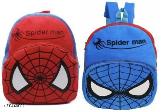 Spiderman Red And Spiderman Blue Bag Soft Material School Bag For Kids Plush Backpack Cartoon Toy   Children's Gifts Boy/Girl/Baby/ Decor School Bag For Kids(Age 2 to 6 Year) and Suitable For Nursery,UKG,NKG Student High Quality School Bag School Bag Plush Bag  (Multicolor, 12 L)