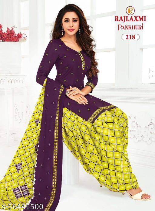 Shree Shan Pure Cotton Un-Stitched Suit (Purple)