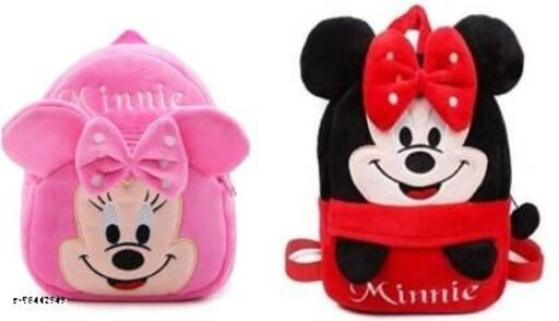 kidgee minnie pink and red combo pack of school bags for kids