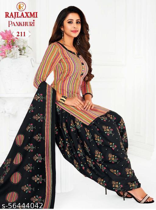 Shree Shan Pure Cotton Un-Stitched Suit (Multicolour)