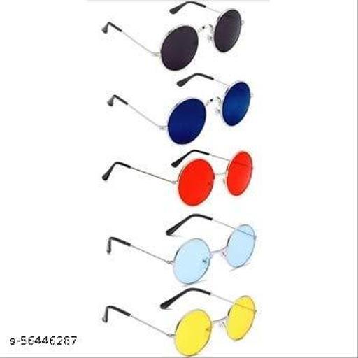 CREEK Unisex Adult Round Sunglasses (Pack of 5)
