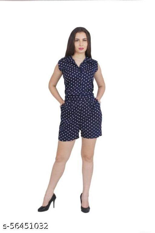 MY SWAG Basic /Short jumpsuit/Polka  Dots for Women