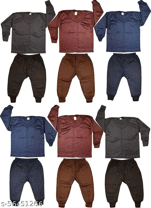 SEE FIT Top - Pyjama Thermal Set for Boys & Girls
