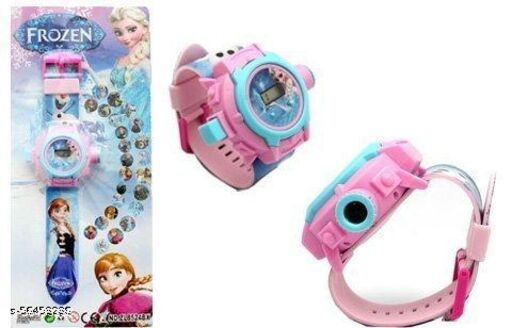 Frozen Projector Digital Watch With 24 Images for Kids(Multicolor)