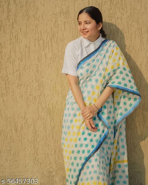 Cotton Chanderi Designer Saree