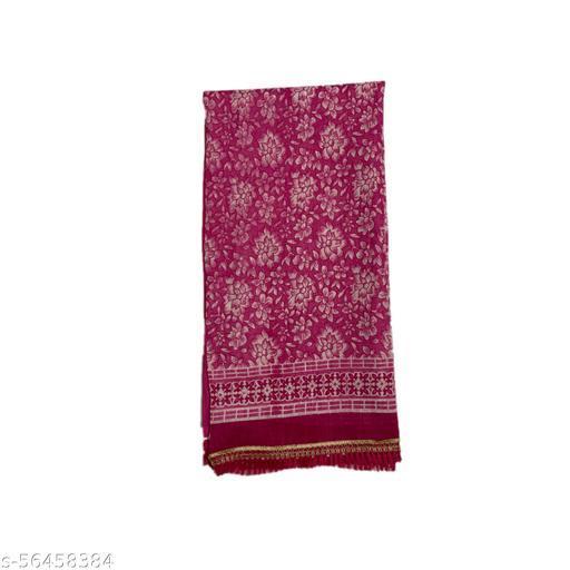 Mahabali Creation Women's Pure Cotton Silk Kota Dupatta's Pink Colour
