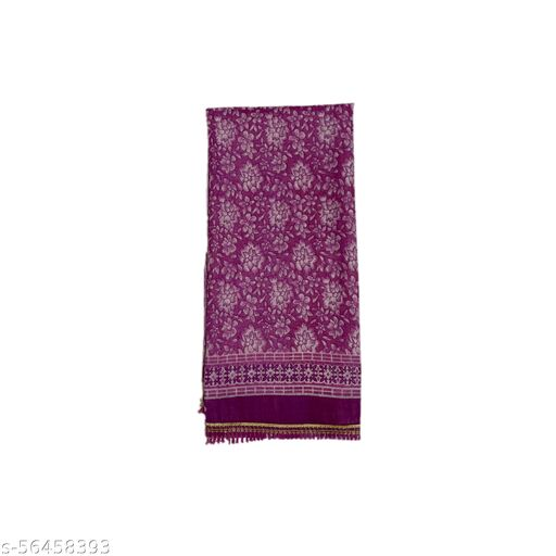 Mahabali Creation Women's Pure Cotton Silk Kota Dupatta's Purple Colour