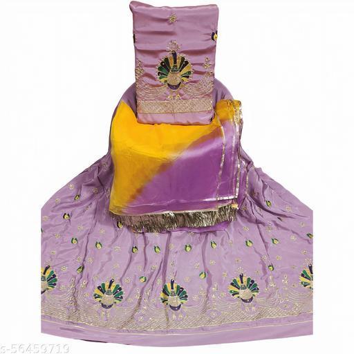Rajputi Dress Lehnga Kurti Duppta with turi lace