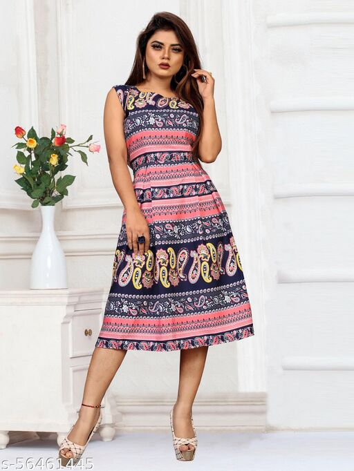 Women Fit and Flare Multicolor Dresses