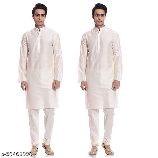 Men tradition white kurta pajama set