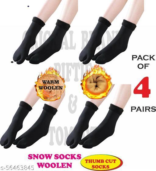 Piftif With Thumb Cut women snow socks Pack of 4