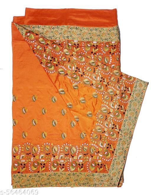 Kantha Stitch Silk Saree with Blouse Piece