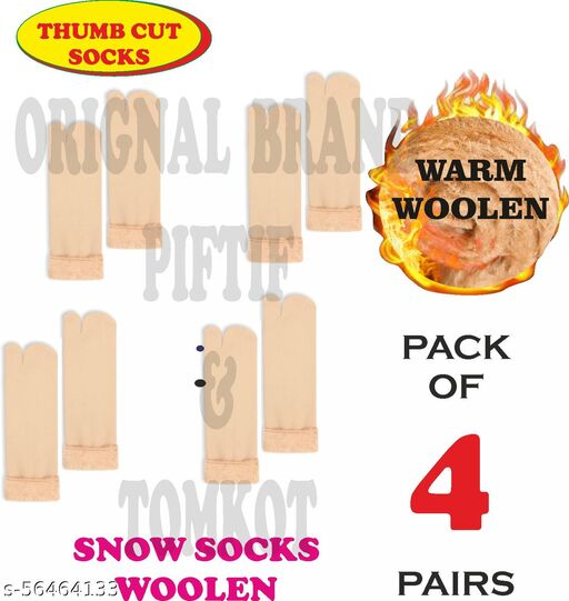 Tomkot With Thumb Cut women snow socks Pack of 4