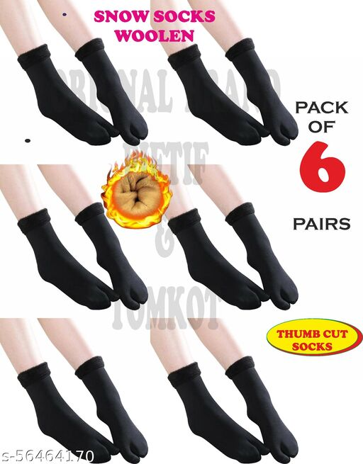 Tomkot With Thumb Cut women's Velvet Winter snow Thermal Pack of 6