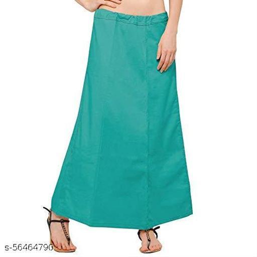 KAVYATANISHQ Women's Cotton Best Plain Solid Indian Stitched Saree Petticoats