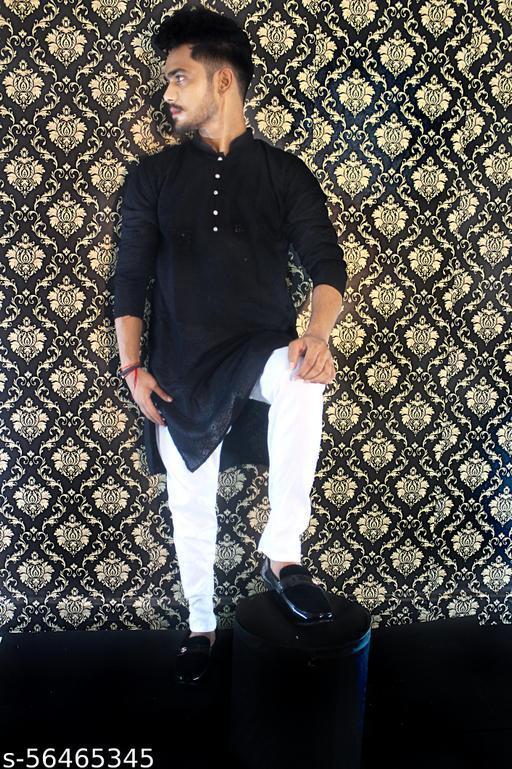 Designer Lucknowi Chikan kurta ( BLACK)