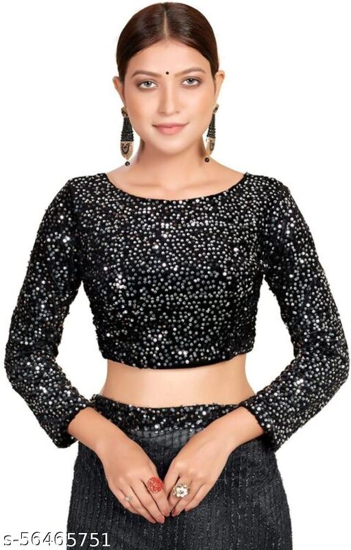 Bollywood Deepika Style Sequenced Blouse