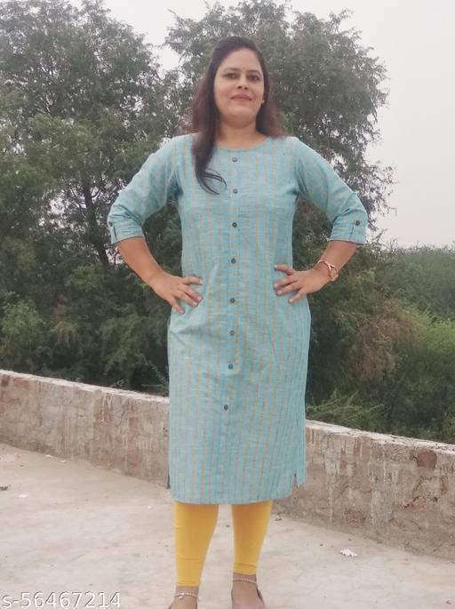 Women Cotton Kurti : Kurti : cotton kurti with pocket : straight Kurti : Daily wear kurti, Caution kurti : simple cotton kurti : comfortable kurti for women : cotton kurti : Big size kurti : Kurti under 300 :