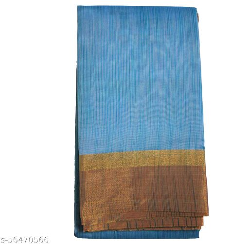 Pochampalli Silk Cotton Saree for Women - Silk Cotton Saree with Blouse