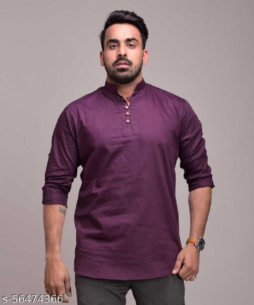Men and Boys Pure Cotton Full Sleeves Casual Partywear  Kurta
