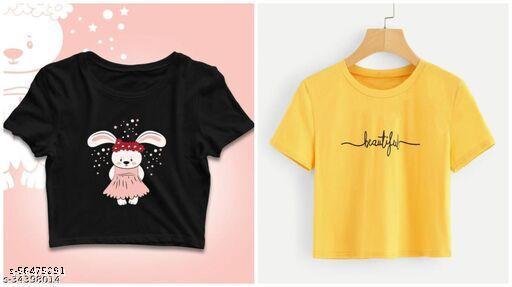 Classy Fashionable Women Crop Tshirts