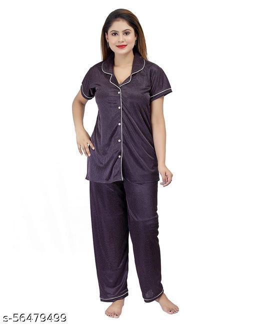 women's stylish printed night suit /nightwear
