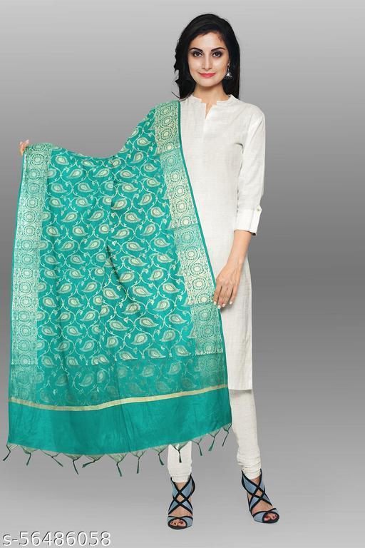 Beautiful Kanchnar womens banarasi Jequard silk Dupatta Chunni