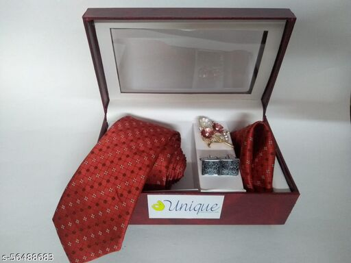 Unique Classy men's Red colored Necktie