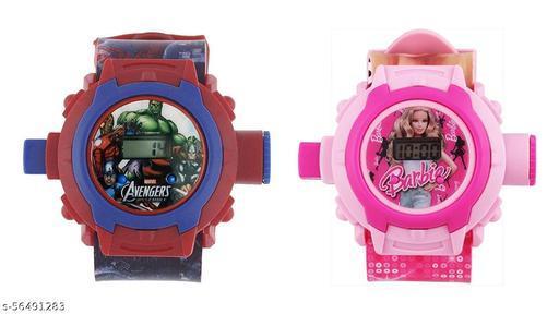 Avengers & Barbie 24-Images Digital Display Projector Cartoon Watch for Kids