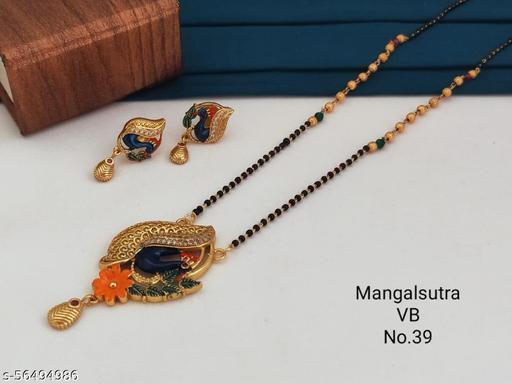 fancy brass mangalsutra