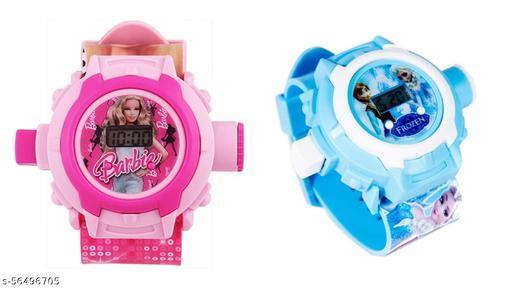 Barbie & Frozen 24-Images Digital Display Projector Cartoon Watch for Kids